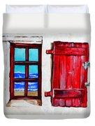 Red Shutter Ocean Duvet Cover