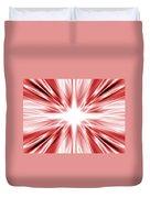 Red Silk Star Duvet Cover
