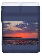 Red Sky At Sword Beach Duvet Cover