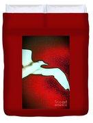 Red Sky Seagull Duvet Cover