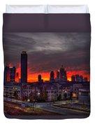 Red Sky Sunrise Midtown Atlanta Duvet Cover