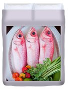 Red Snappers Duvet Cover