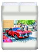 Red Sport Car Duvet Cover