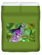 Red Spotted Purple Butterfly Photopainting Duvet Cover