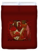Red Still Life Duvet Cover