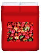 Red Strawberries Duvet Cover