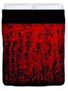 Red Streaks Duvet Cover