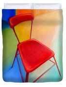 Red Studio Chair Duvet Cover