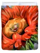 Red Sunflower Duvet Cover