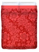 Red Sunflower Wallpaper Design, 1879 Duvet Cover
