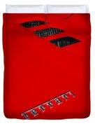 Red Supercar Duvet Cover