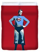 Red Superman Duvet Cover