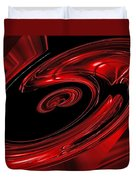 Red Swirl  Duvet Cover