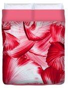 Red Swirls Background Duvet Cover
