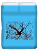 Red Tail Hawk In Flight Duvet Cover
