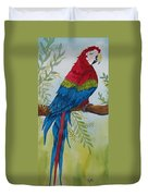 Red Tail Macaw Too Duvet Cover