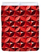 Red Textured Wall Duvet Cover