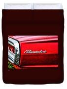 Red Thunderbird Duvet Cover