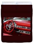 Red Thunderbird Dash Duvet Cover