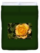 Red-tipped Yellow-orange Rose Duvet Cover