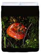 Red Toadstool Duvet Cover