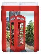 Red Token Booth Duvet Cover