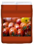 Red Tomatoes At The Market Duvet Cover by Heather Applegate