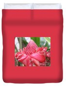 Red Torch Ginger Duvet Cover
