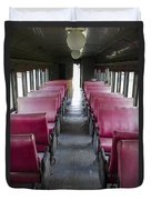 Red Train Seats Duvet Cover