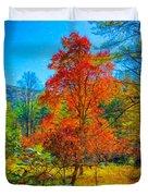 Red Tree Duvet Cover