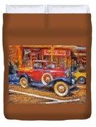 Red Truck Photo Art Duvet Cover