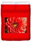 Red Tubular Flower Duvet Cover