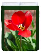 Red Tulip Duvet Cover