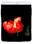 Red Tulip Blurred Duvet Cover