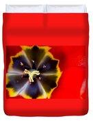 Red Tulip Macro Duvet Cover