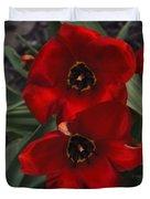 Red Tulip Pair Duvet Cover