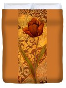 Red Tulip Two Duvet Cover