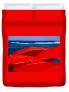 Red Umbrellas  Duvet Cover