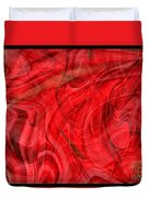 Red Veil Abstract Art Duvet Cover