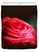 Red Velvet Rose By Morning Light  Duvet Cover