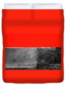 Red Wall In Black And White Duvet Cover