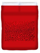 Red Water Drops On Water-repellent Surface Duvet Cover