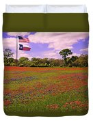 Red White And Beautiful Duvet Cover