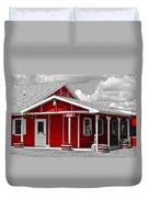 Red White And Black Duvet Cover