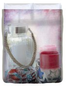 Red White And Blue Duvet Cover by Judy Hall-Folde
