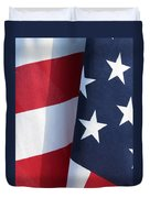 Red White And Blue Duvet Cover by Laurel Powell
