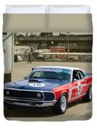 Red White And Blue Mustang Duvet Cover