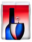 Red White And Blue Reflections And Refractions Duvet Cover by Susan Candelario