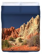 Red White And Blue Sky Duvet Cover