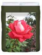 Red-white Rose Duvet Cover